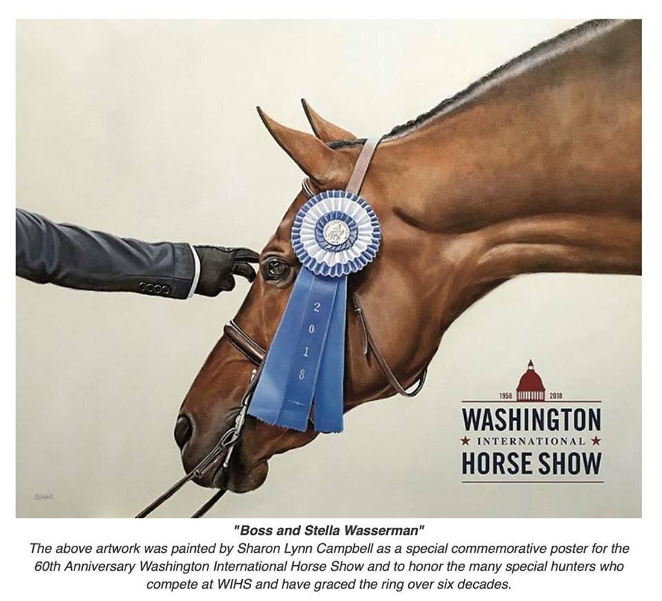 Boss and Stella Wasserman, Washington International Horse Show official artwork 2018