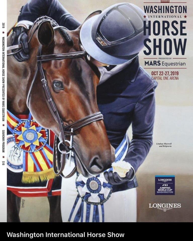 Lindsay Maxwell and Belgravia, Washington International Horse Show artwork 2019