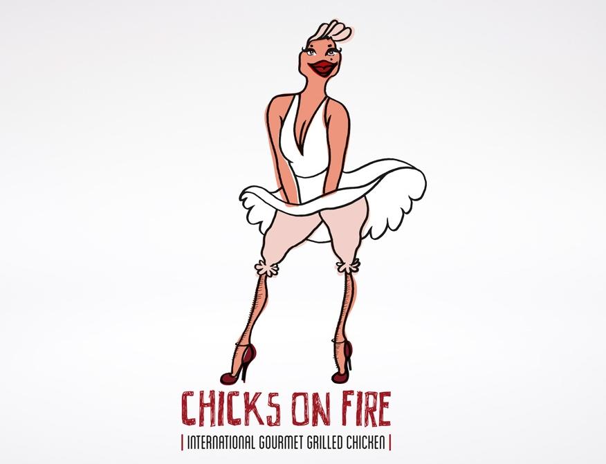 Chicks on fire - logo design