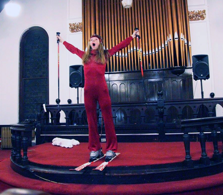 """""""Shred the Prayer"""" part of  15 Performances in an Hour , Neu Kirche Contemporary Art Center, Pittsburgh, PA"""