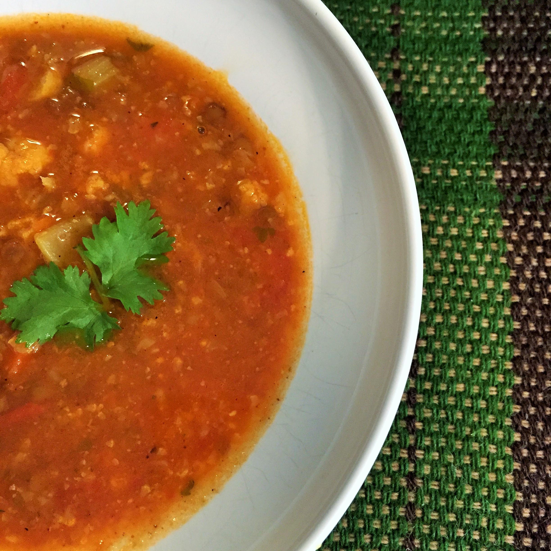 Curried Vegetable Lentil Soup