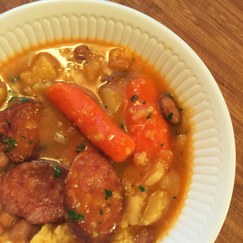 Hungarian Bean Sausage Soup