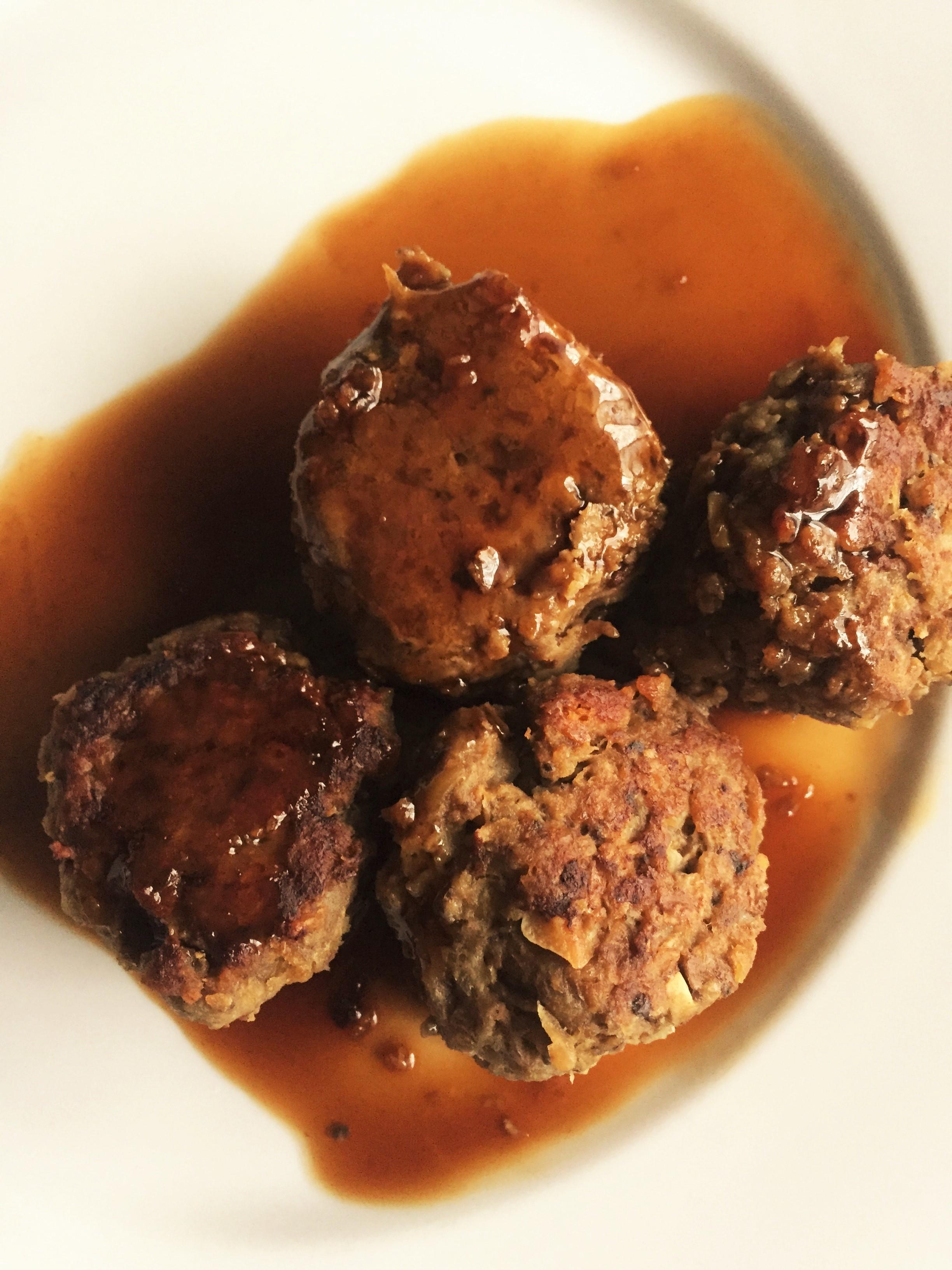Same meatballs with Honey Garlic Sauce