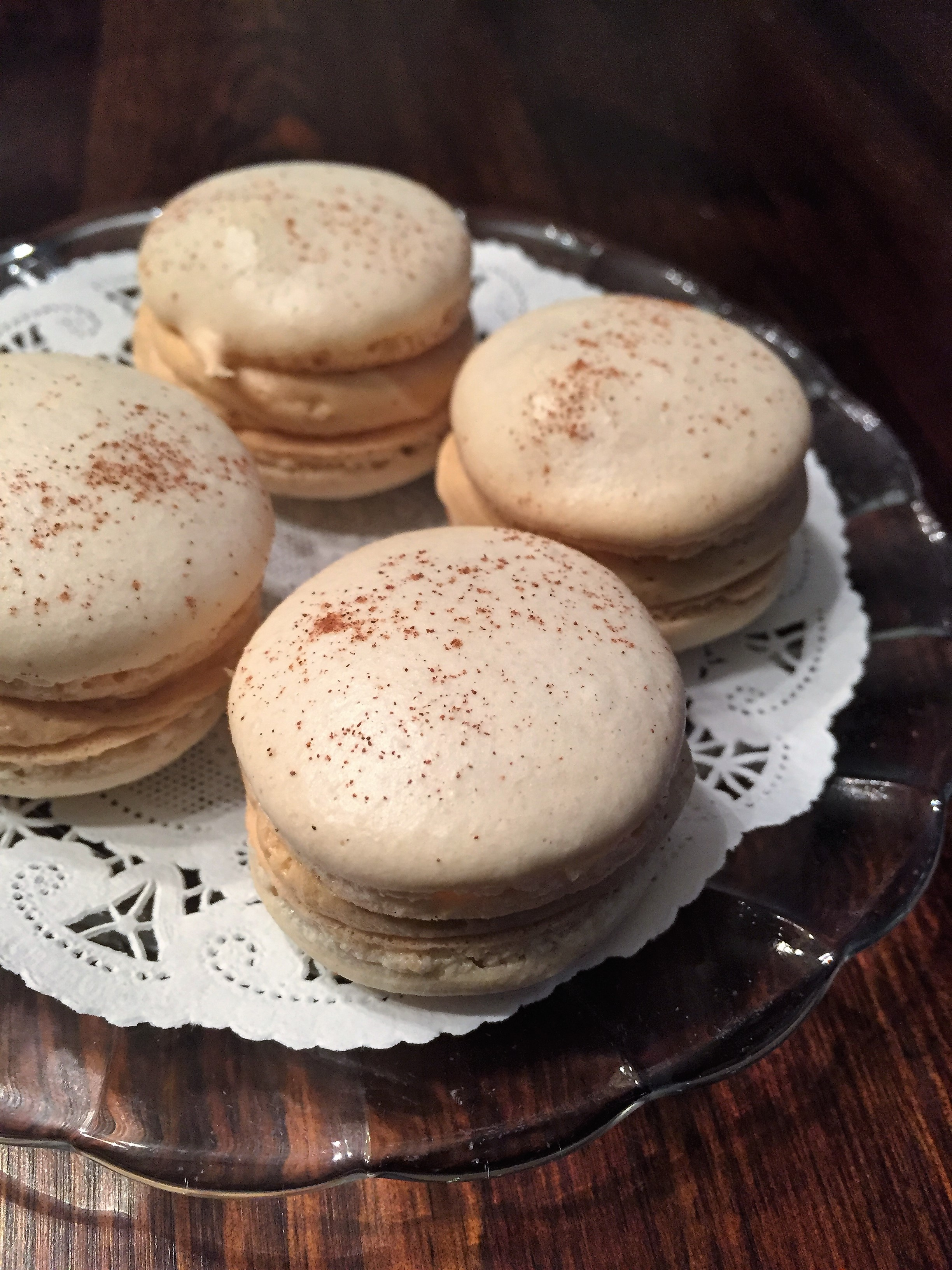 Macarons with dulce de leche filling - made by me!!