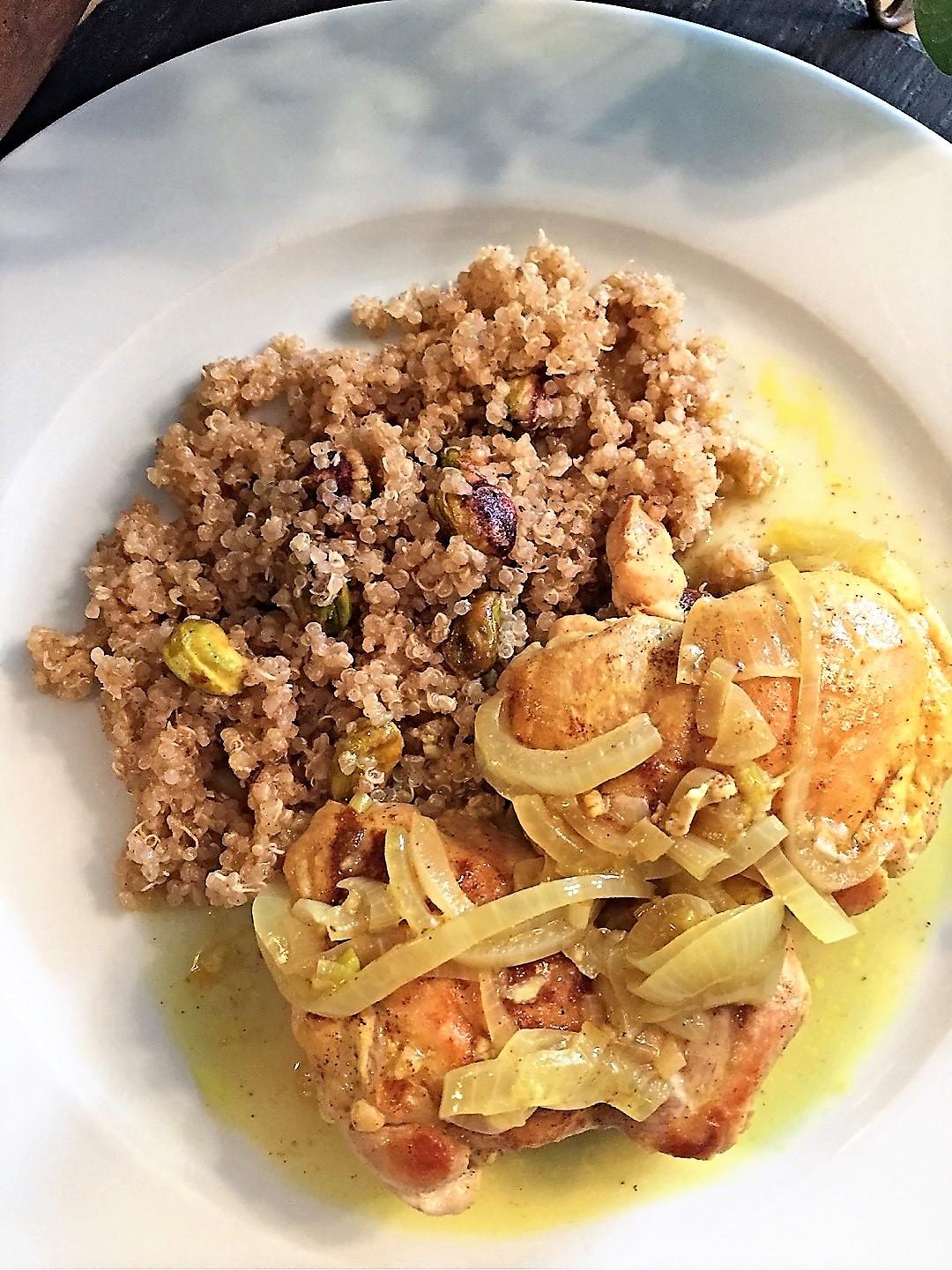 Moroccan Chicken on Quinoa