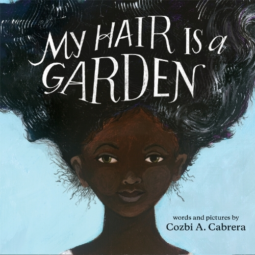 Released April 1, 2018  My Hair Is A Garden Words and Pictures by Cozbi A. Cabrera published by Albert Whitman  available at   independent booksellers   and   Amazon    After a day of being taunted by classmates about her unruly hair, Mackenzie can't take any more and she seeks guidance from her wise and comforting neighbor, Miss Tillie. Using the beautiful garden in the backyard as a metaphor, Miss Tillie shows Mackenzie that maintaining healthy hair is not a chore nor is it something to fear. Most importantly, Mackenzie learns that natural black hair is beautiful.
