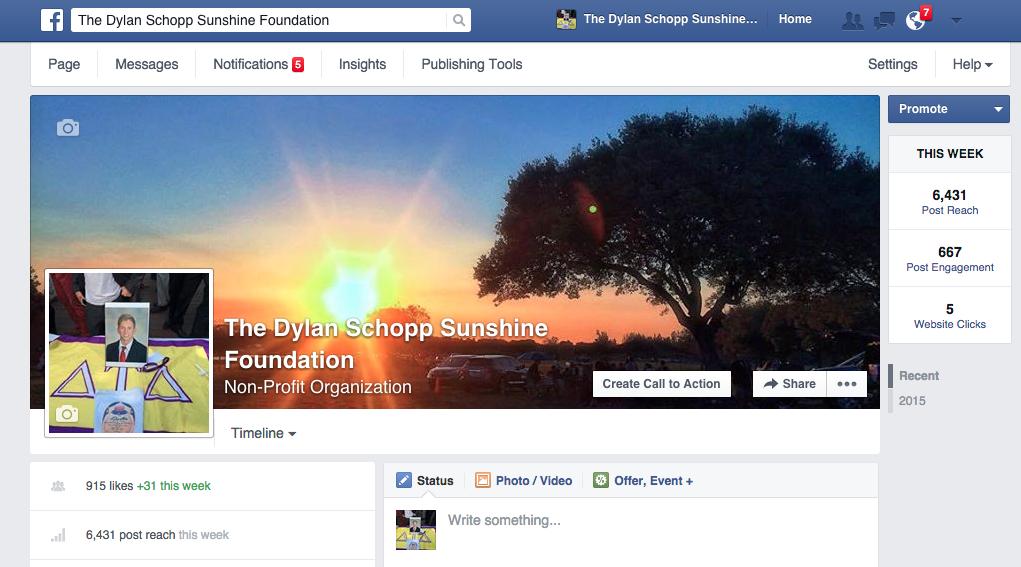 Facebook Fan Page | September 2015