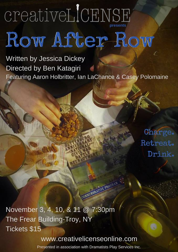 Thoughts on Row After Row… - This script drew us in from the very first page through it's beautiful imagery and it's snappy, smart dialogue. And when we found the Frear Building in historic Troy, NY, we couldn't wait to take the show on the road.