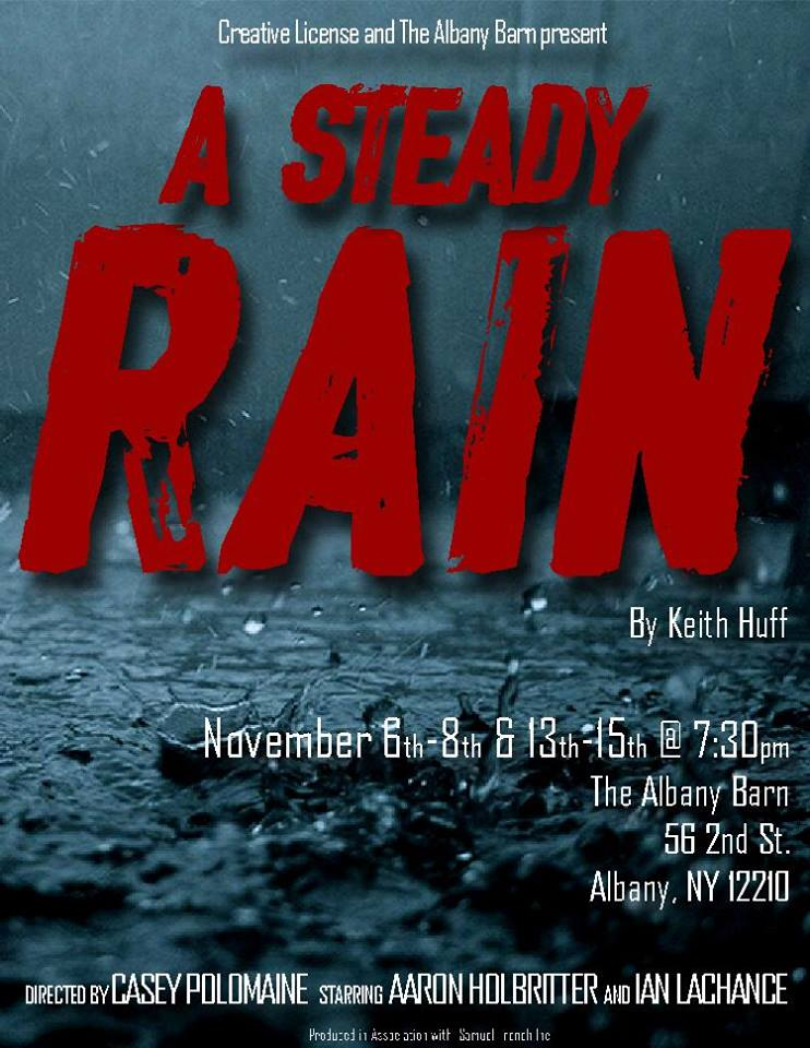 Thoughts on A Steady Rain - We chose A Steady Rain for our inaugural production because of it's rich themes and stripped down technical requirements. It didn't require any elaborate costumes or set, so we were able to focus on the acting and the lives of these two complex characters. That's what makes this show so captivating.