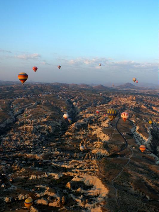 Sunrise 1,000 feet (304m) up at Cappadocia, Turkey      Photo by: Brad Hilbrich