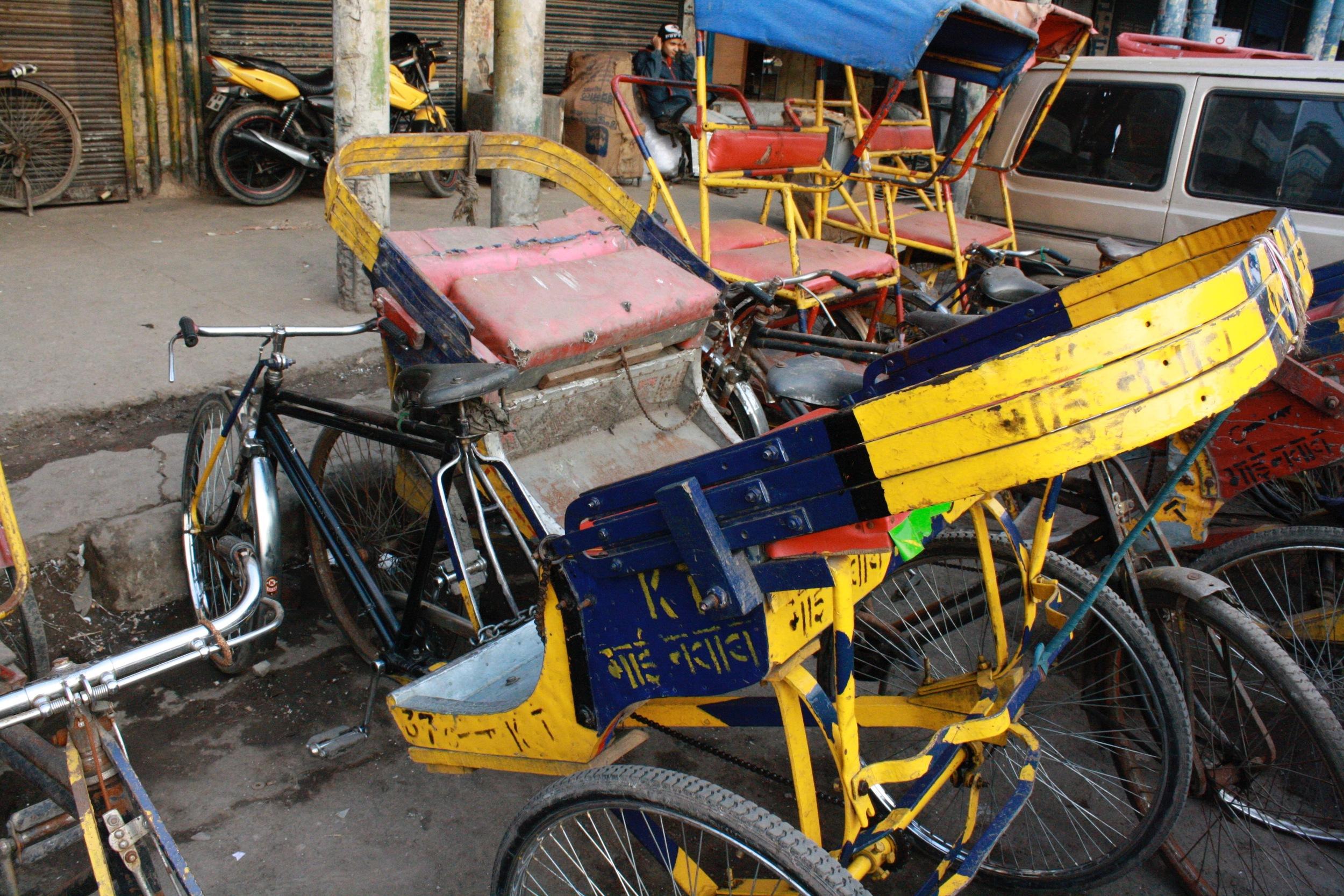 Rickshaws at rest