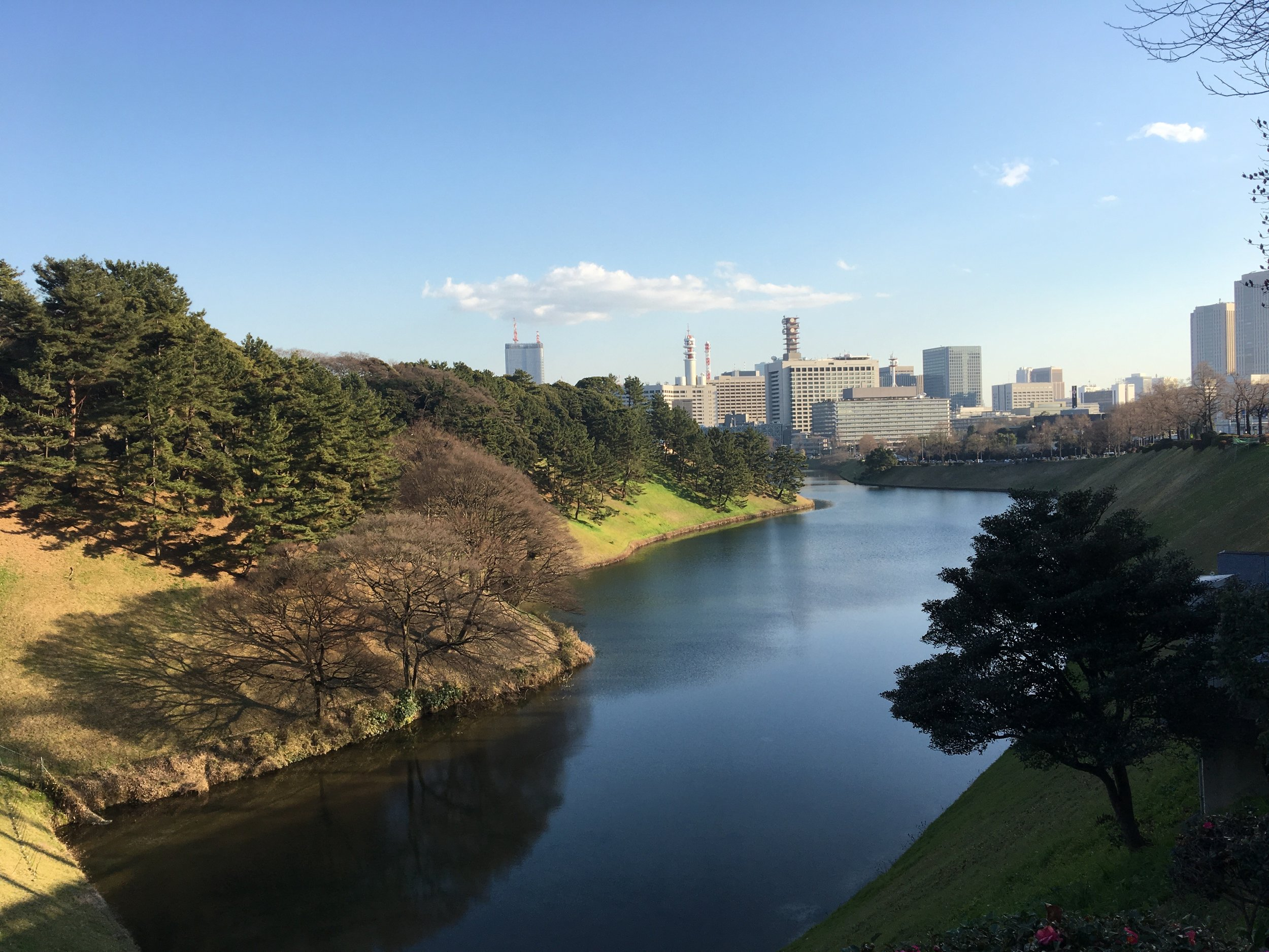 Moat surrounding the Imperial Palace in Central Tokyo