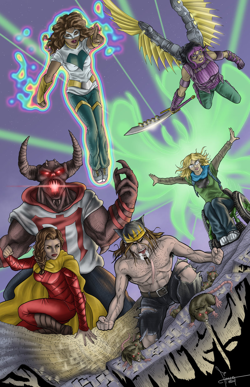 The Flocco   Based out of California, I draw, I write, (sometimes) And I color things as best I can. Influenced by comic books, I've created various illustrations, both original and of some of my favourite characters. Created commissions for various people, including promotional art for Mega Ran and K Murdock.  Web: flocco.deviantart.com