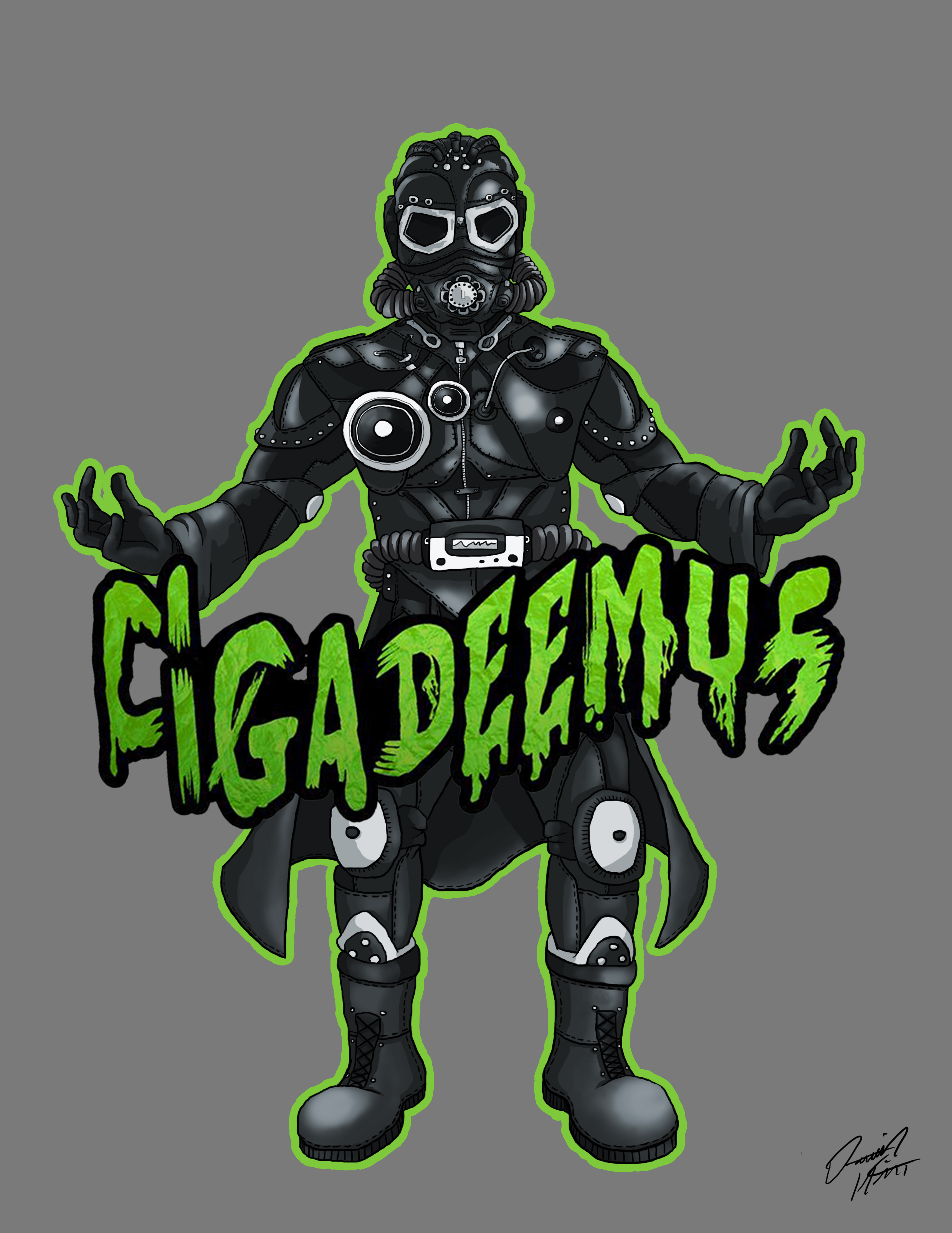 This project was a design brief to adapt the UK based Producers Cigadeemus' logo into a character. quite happy with the end result!
