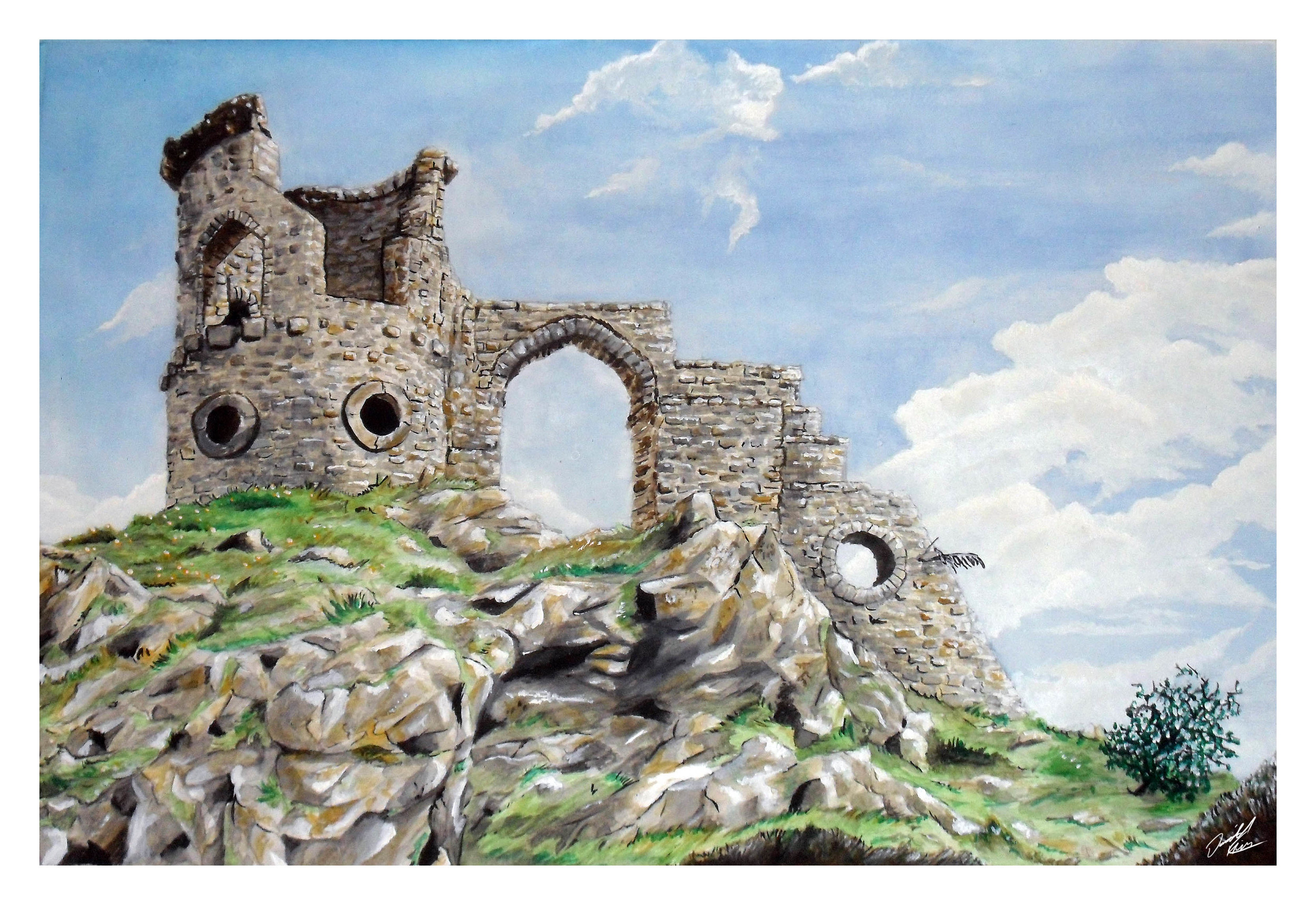 Watercolour commission that kicked off my foray back into painting again. Created for an old friend of the old castle ruin in our home village (prints available in my new store!)