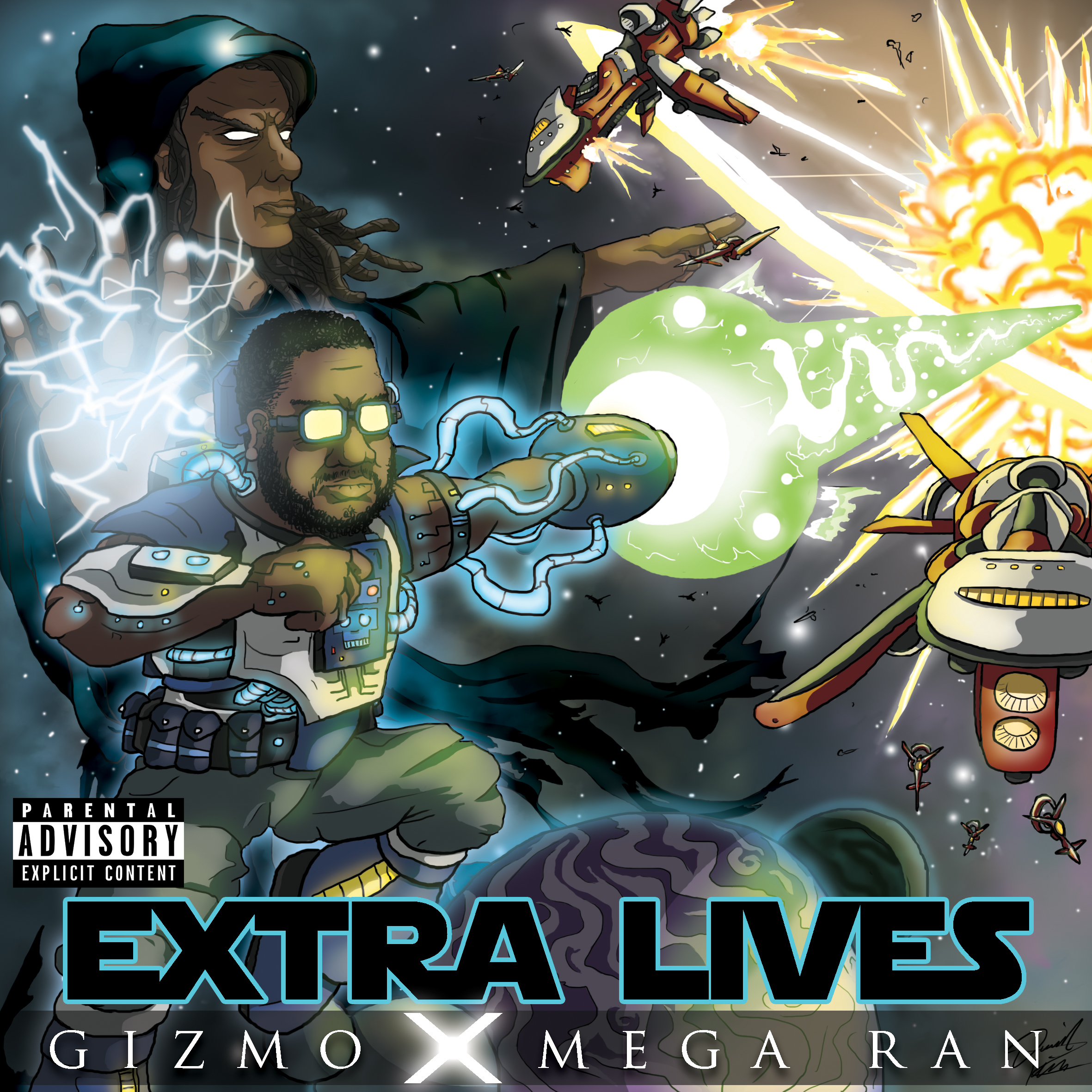 EXTRA LIVES By Gizmo ft. Mega Ran  was my first time working with this client, but i couldn't have asked for a funner brief; Star Wars themed epic space battle!
