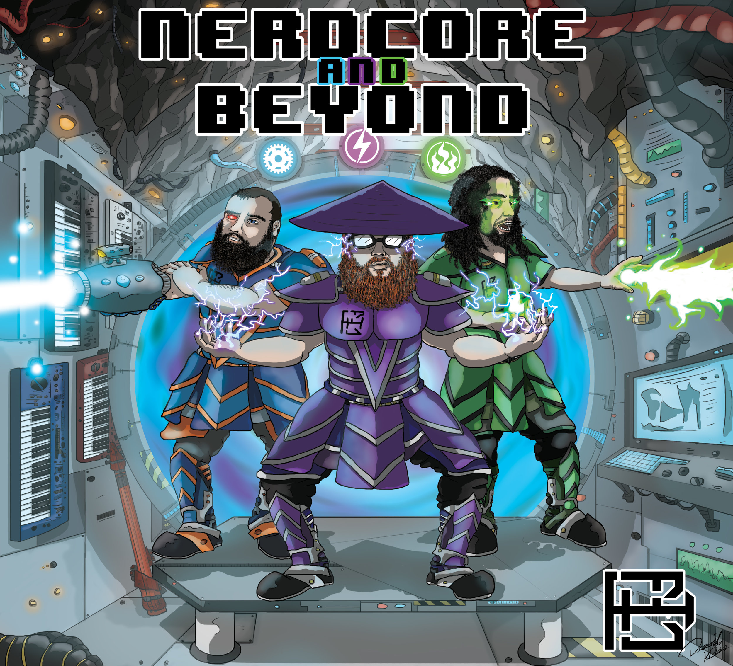 Nerdcore & Beyond, By Bitforce.  This was an epic project that not only saw me work with my first non-hip hop music clients, but also tackled lots of new work that included a huge pixel art piece and even an animated display of the album art.
