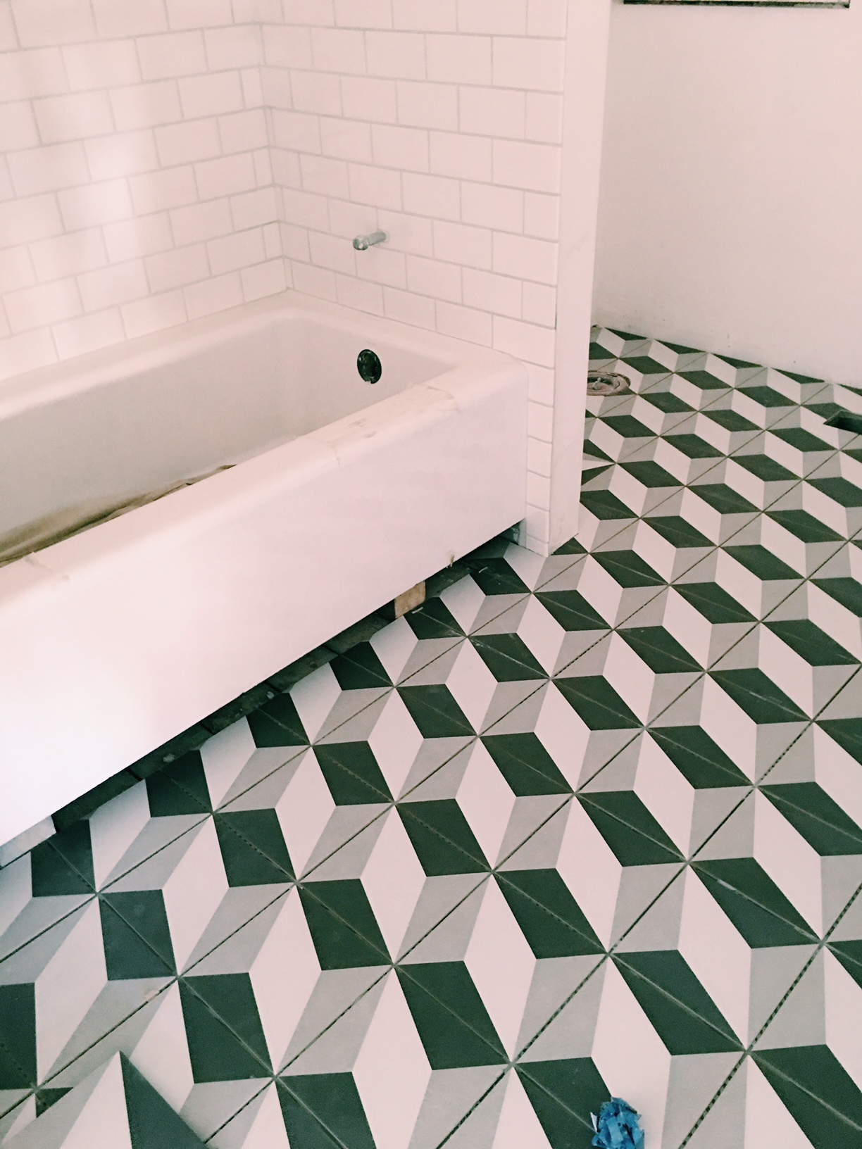 An in-progress peek at our guest bathroom.