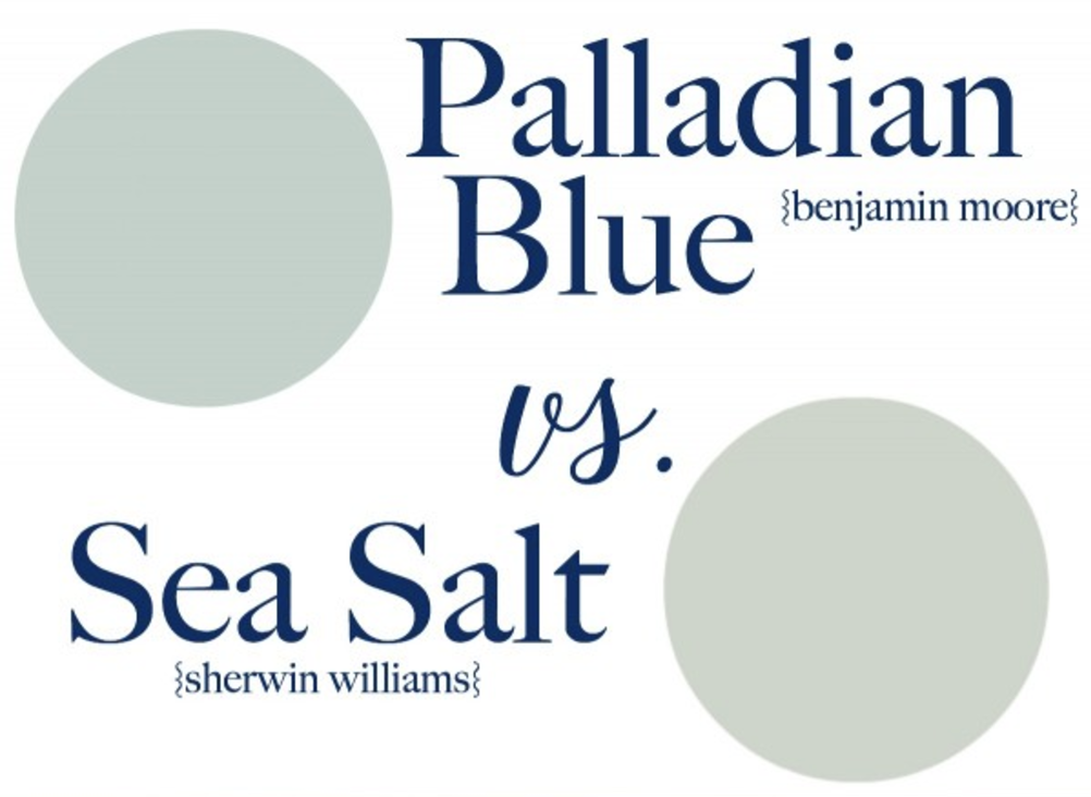 This  blogger compares Palladian Blue to Sea Salt. Take a look at her learnings.