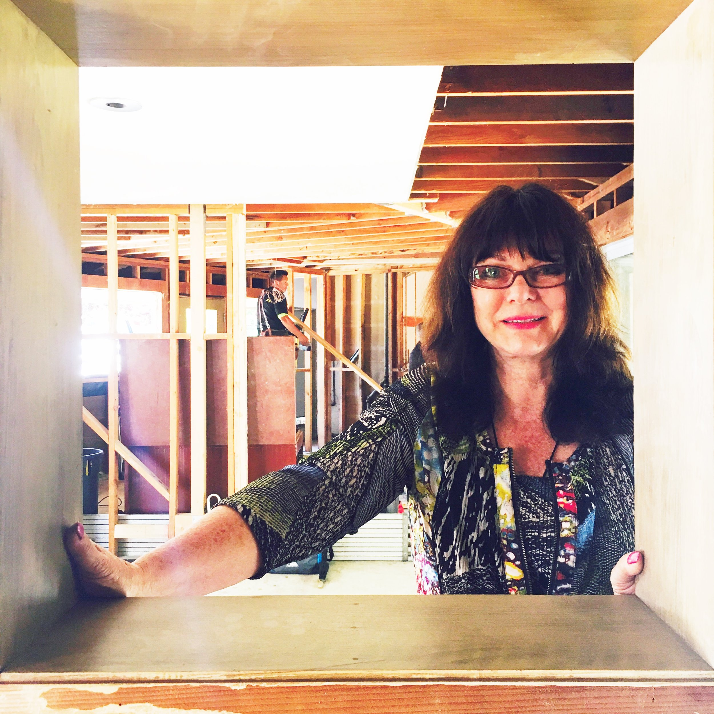 This is Helena Steele, my fabulous kitchen designer, from  Golden Gate Kitchens  in Los Altos.
