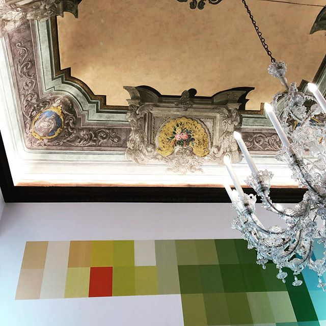 Frescos meet color palette inspiration.