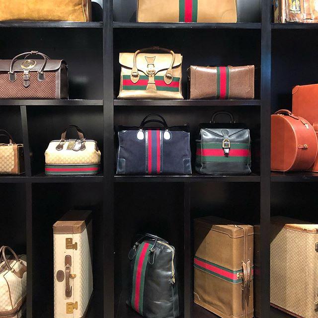 Vintage Gucci. Time travel design in a bag.