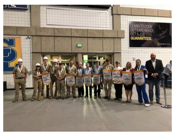 UBTech came home with 28 medals in gold, silver, and bronze from the 2019 SkillsUSA Utah Leadership and Skills Competition. Pictured above are 13 gold medalists and (left) UBTech College President Aaron Weight. This year was the highest number of medalists in the history of UBTech. All gold medalists qualified to compete at the National Leadership and Skills Competition in Louisville, Kentucky in late June.