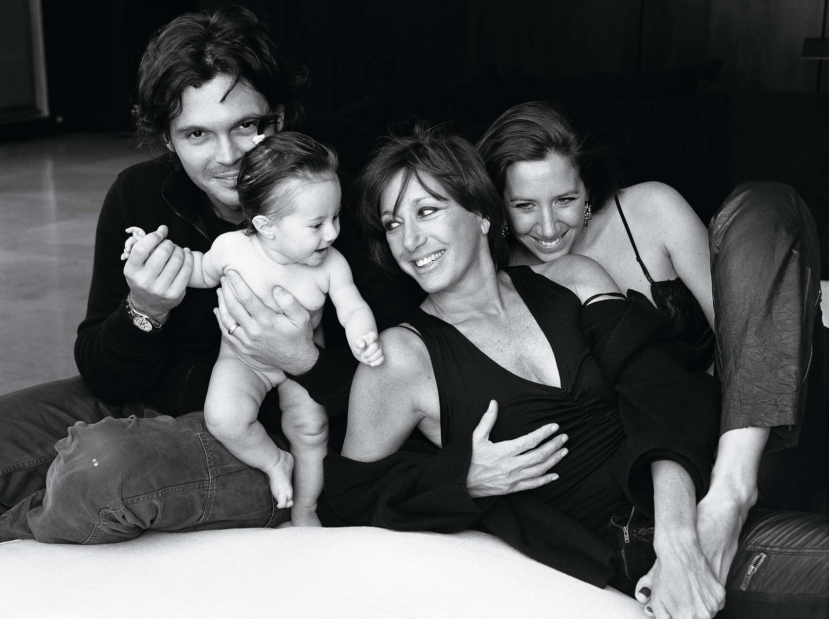 Donna Karan with her daughter Gabby, son-in-law, Gianpaolo De Felice, and granddaughter Stefania