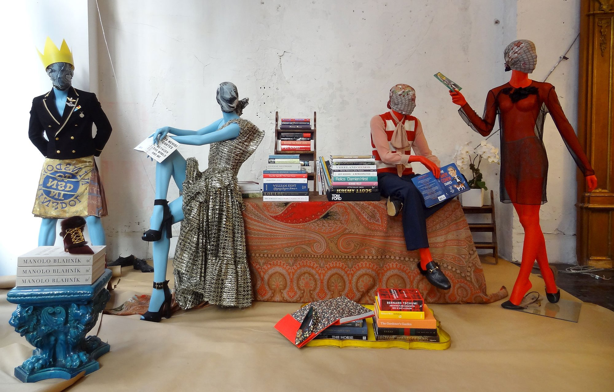 Andre Leon Talley's window display.Photos Courtesy of Vogue