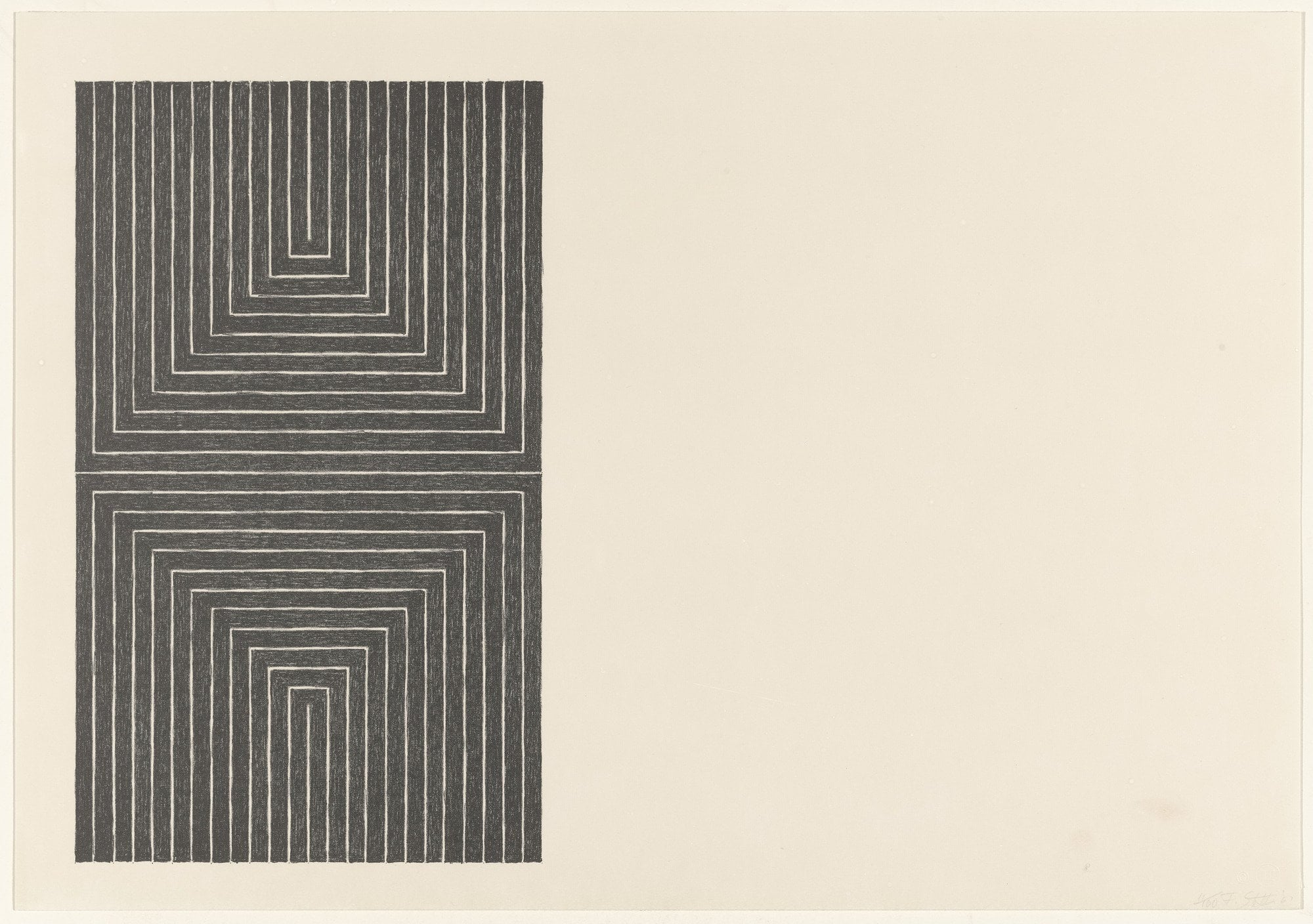 Frank Stella ,  Arundel Castle from Black Series I  1967
