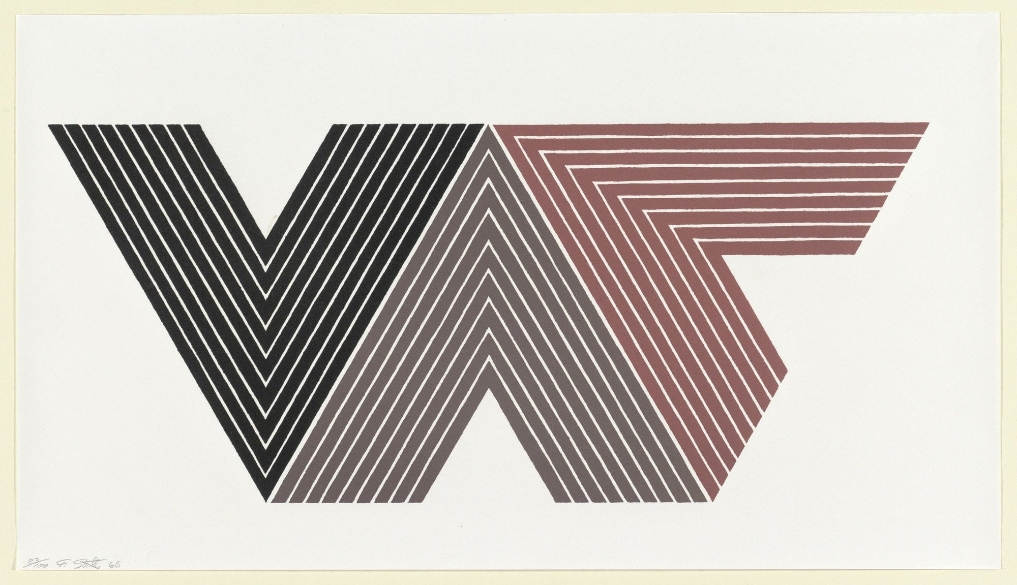 Frank Stella ,  Quathlamba I from the V Series  1968