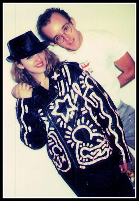 Keith Haring and Madonna, 1985