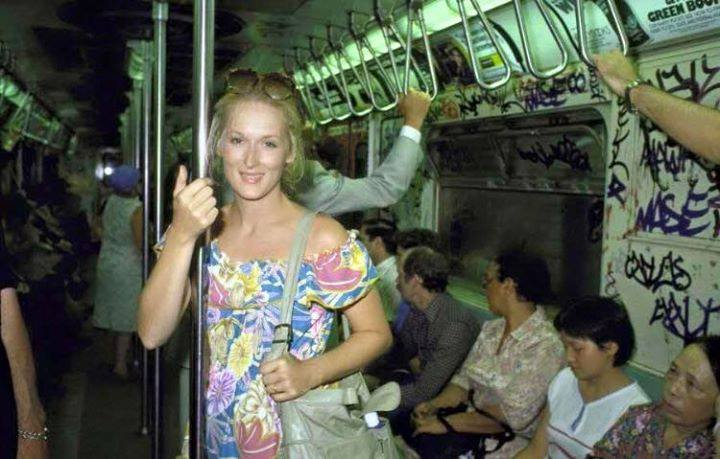 """Meryl Streep, 1976    'This was me on my way home from an audition for King Kong where I was told I was too """"ugly"""" for the part. This was a pivotal moment for me. This one rogue opinion could derail my dreams of becoming an actress or force me to pull myself up by the boot straps and believe in myself. I took a deep breath and said """"I'm sorry you think I'm too ugly for your film but you're just one opinion in a sea of thousands and I'm off to find a kinder tide."""" Today I have 18 Academy Awards. : )'"""