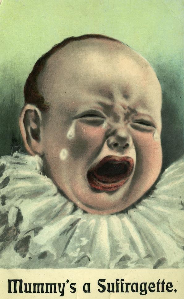 Anti-suffrage postcard, 1908
