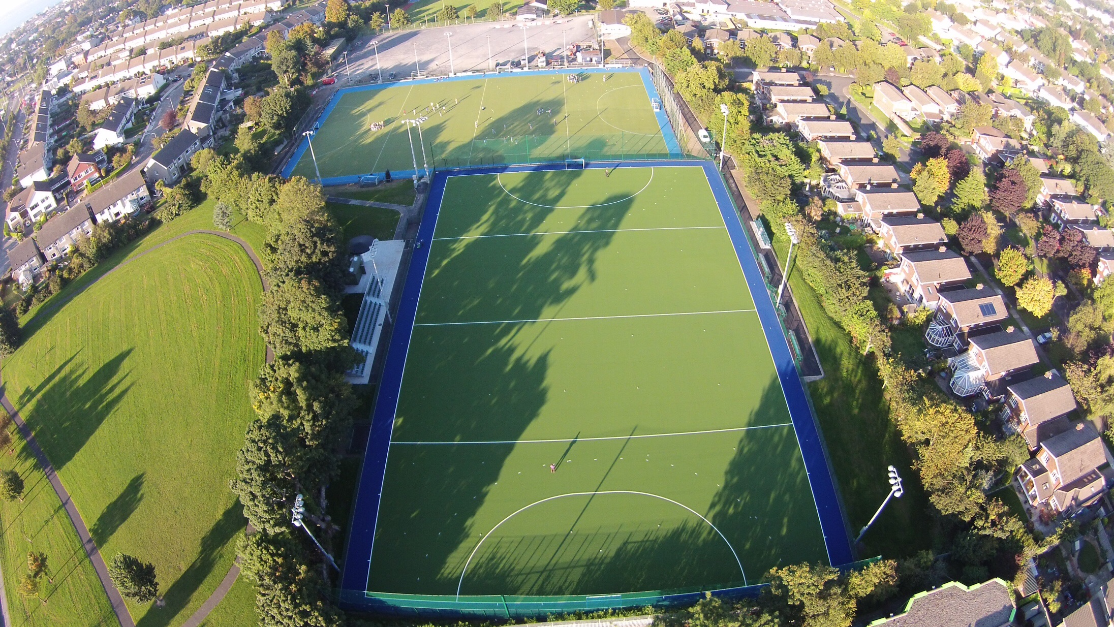Birds eye view of the pitch