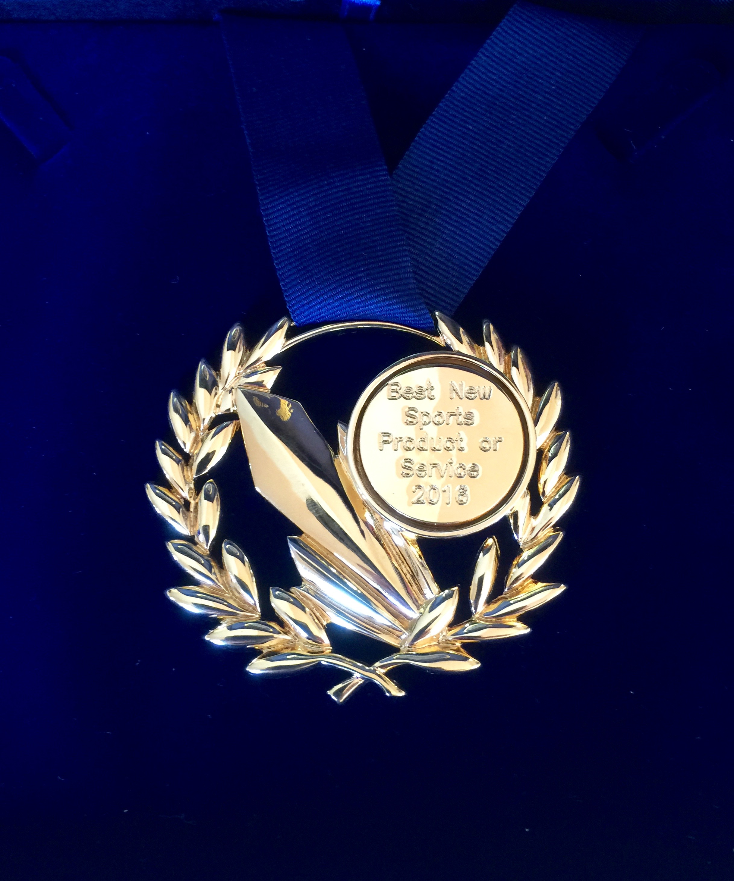A very nice medal in recognition of Sports Labs strategy of innovation