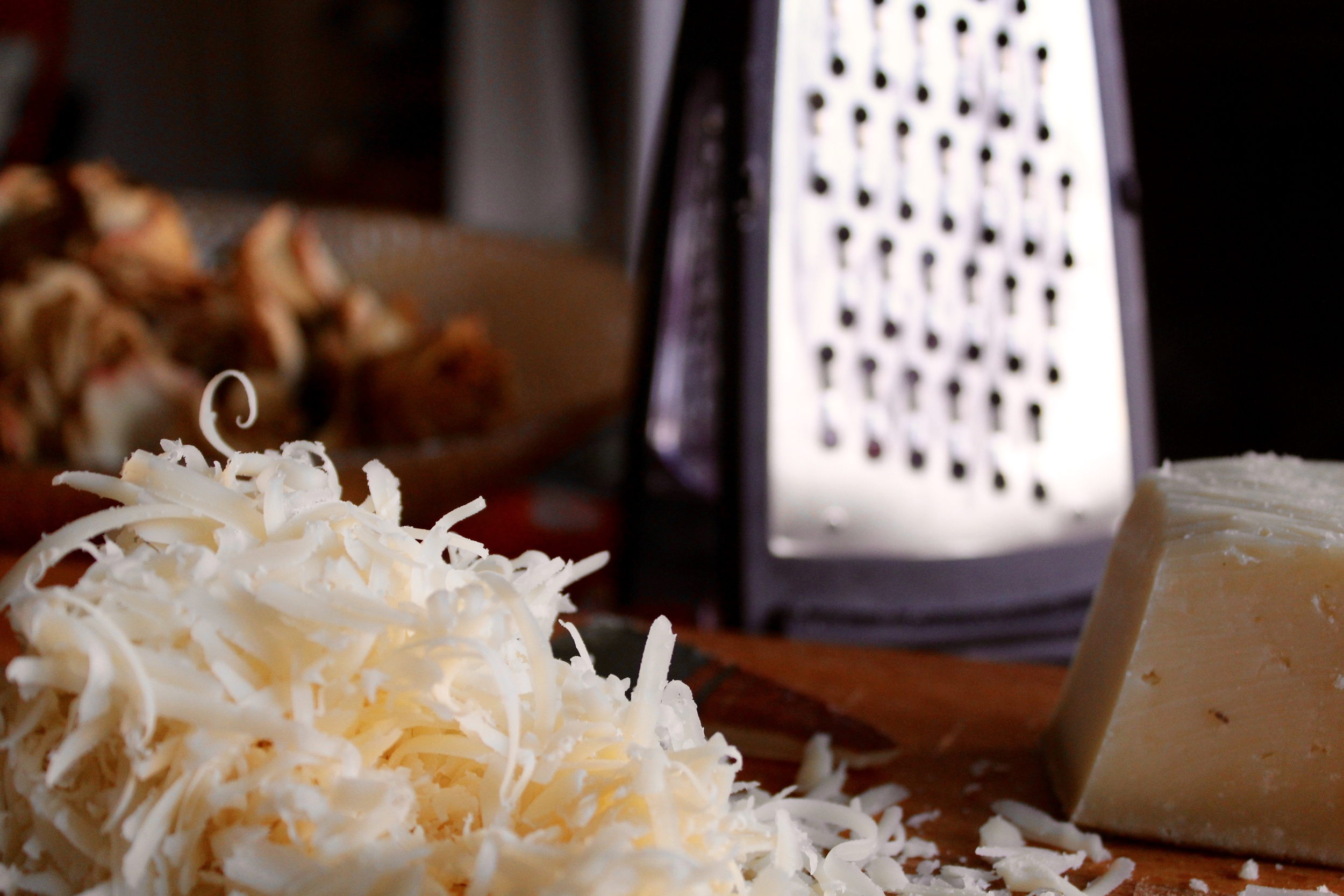 Clearly the grated cheese gets me quite excited.