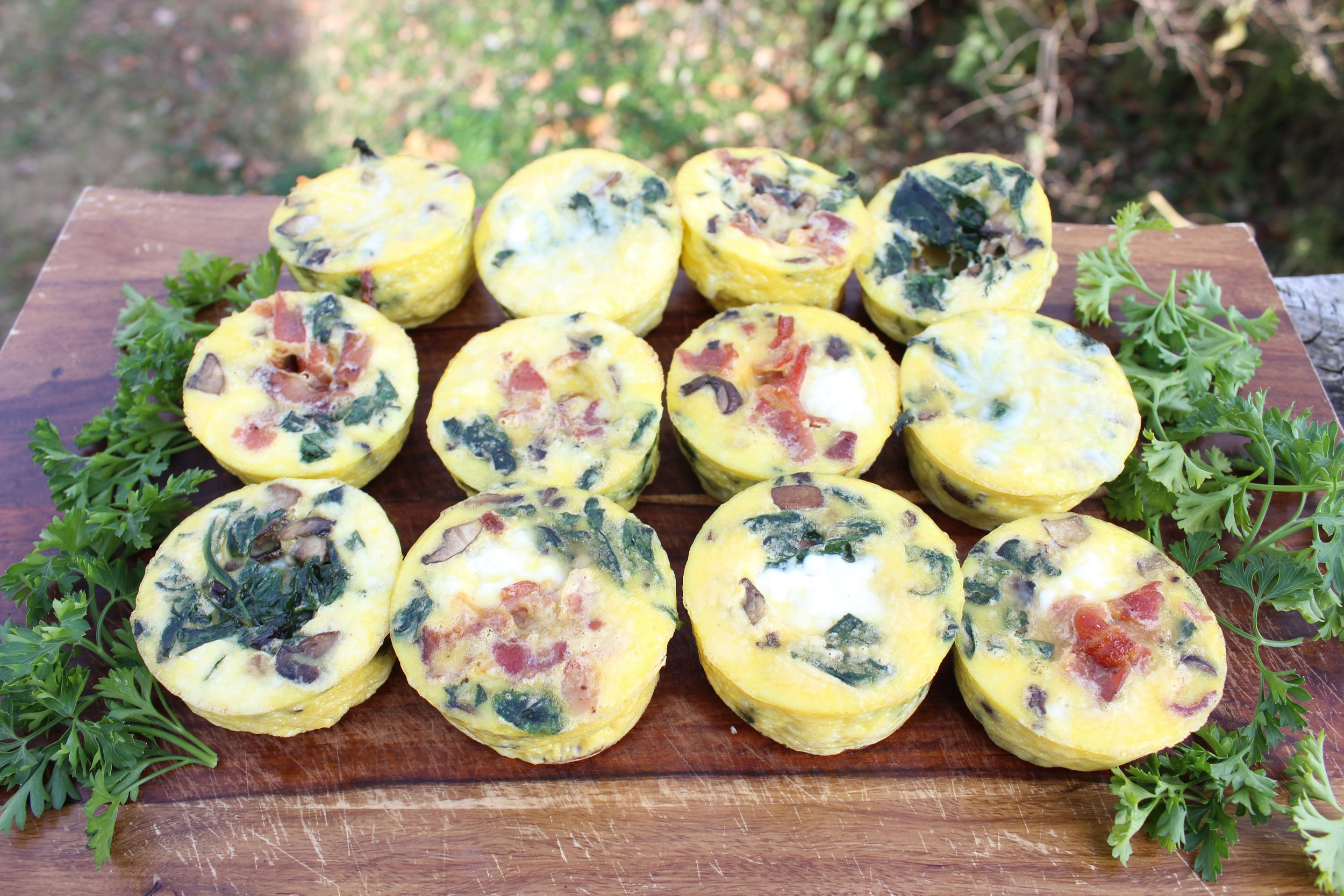mini egg souffles