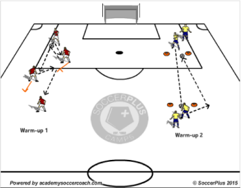 developing midfielders in attacking play warm-up