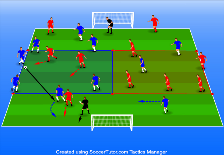 5 v 2 passing and receiving game