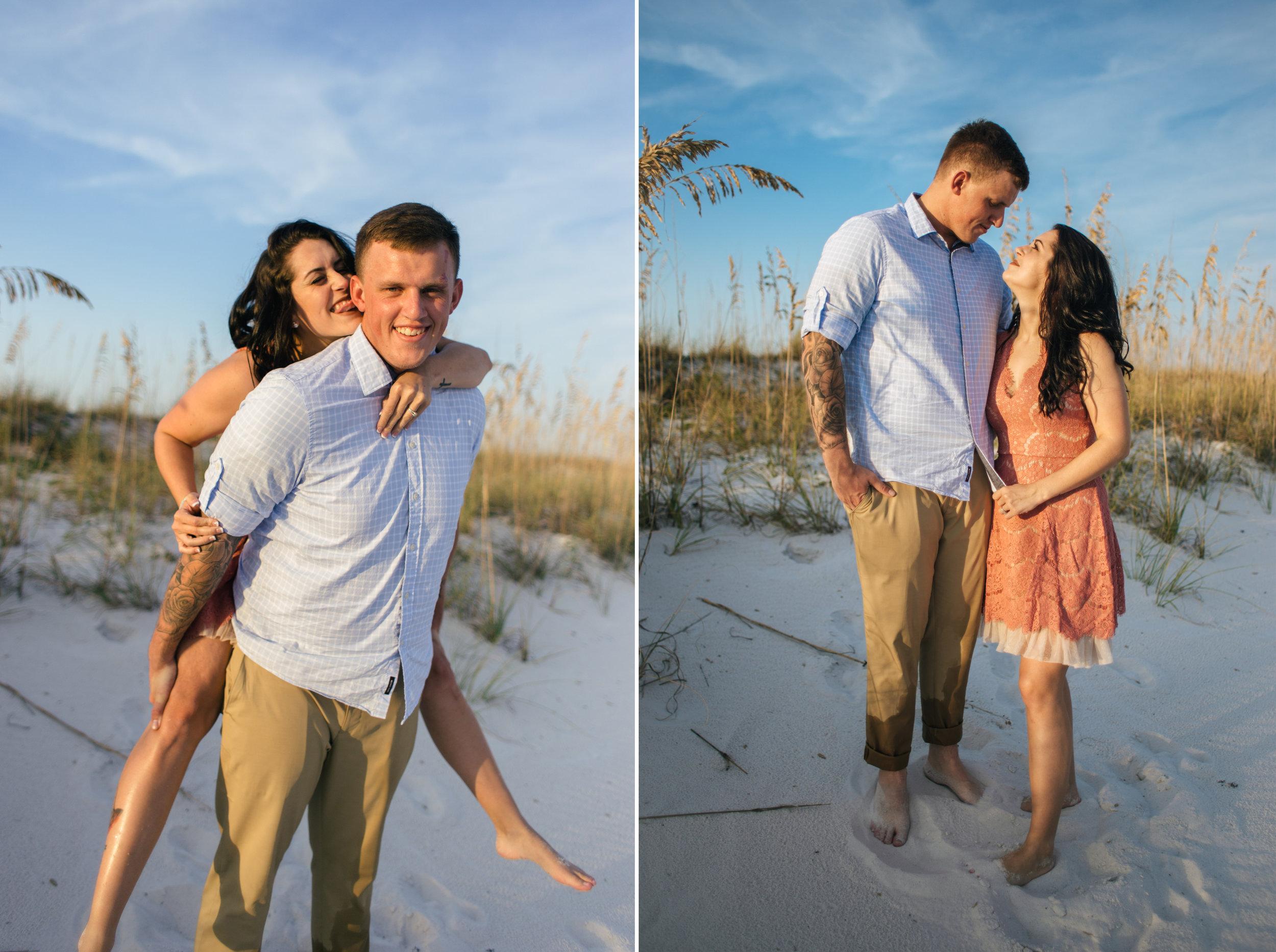 pensacola beach newlywed photos