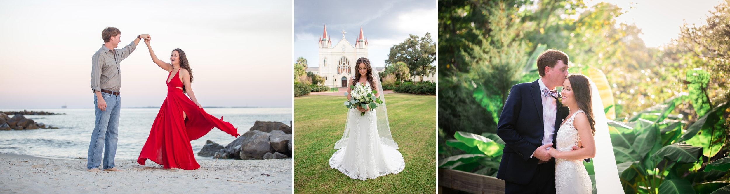 wedding engagement bridal photo photography pensacola fairhope bella sera gardens dauphin island