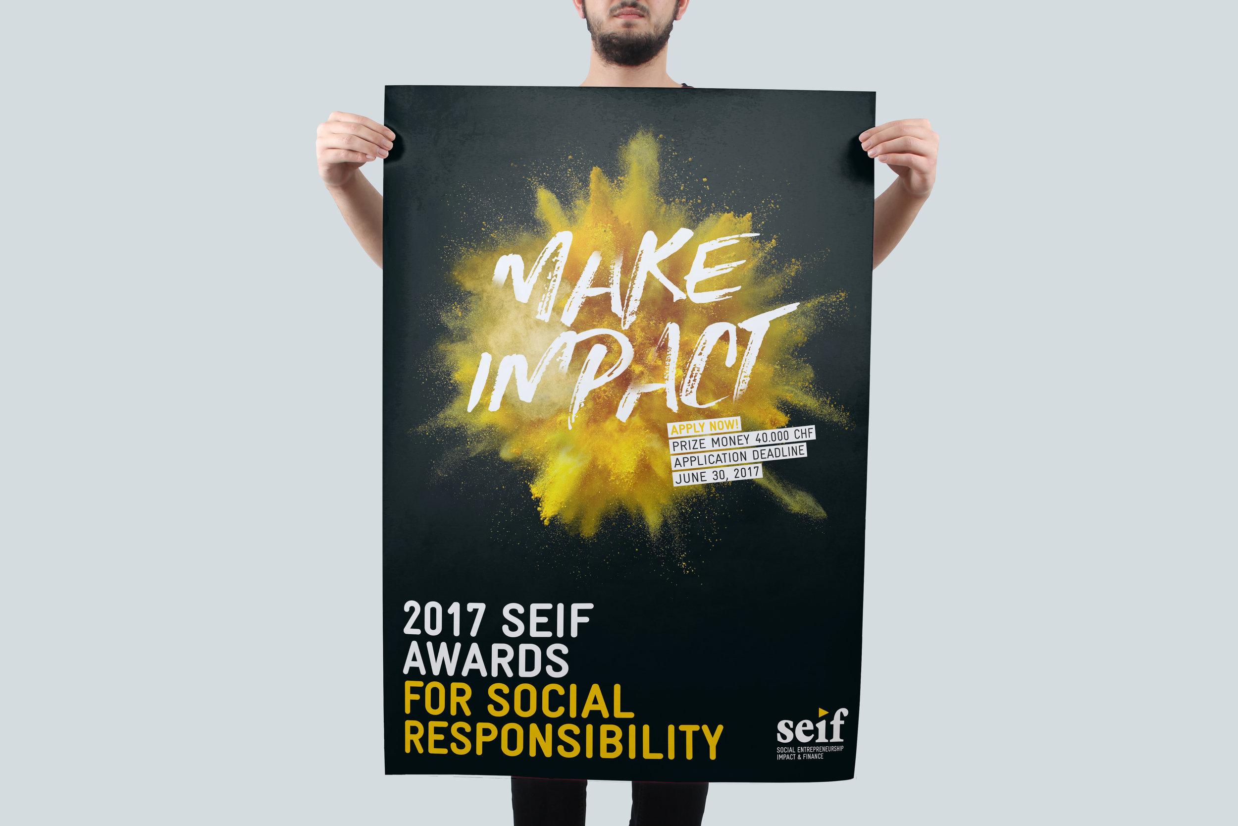Das Plakat für den Seif Event ist explosiv geworden.
