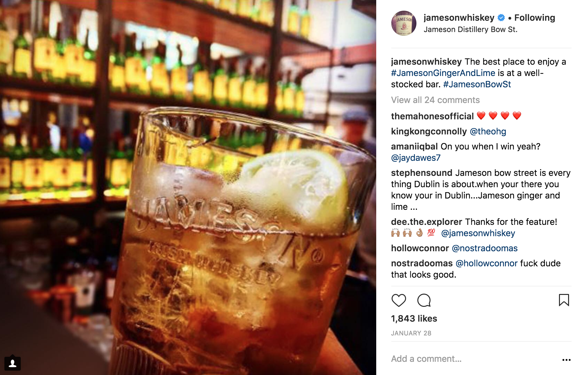The best place to enjoy a #JamesonGingerAndLime is a well-stocked bar.