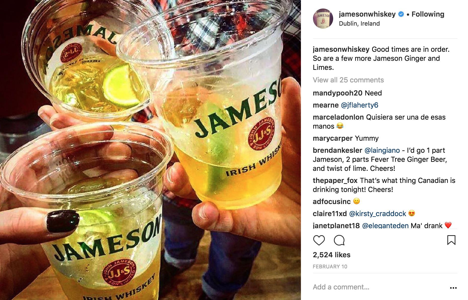 Good times are in order. So are a few more Jameson Ginger and Limes.