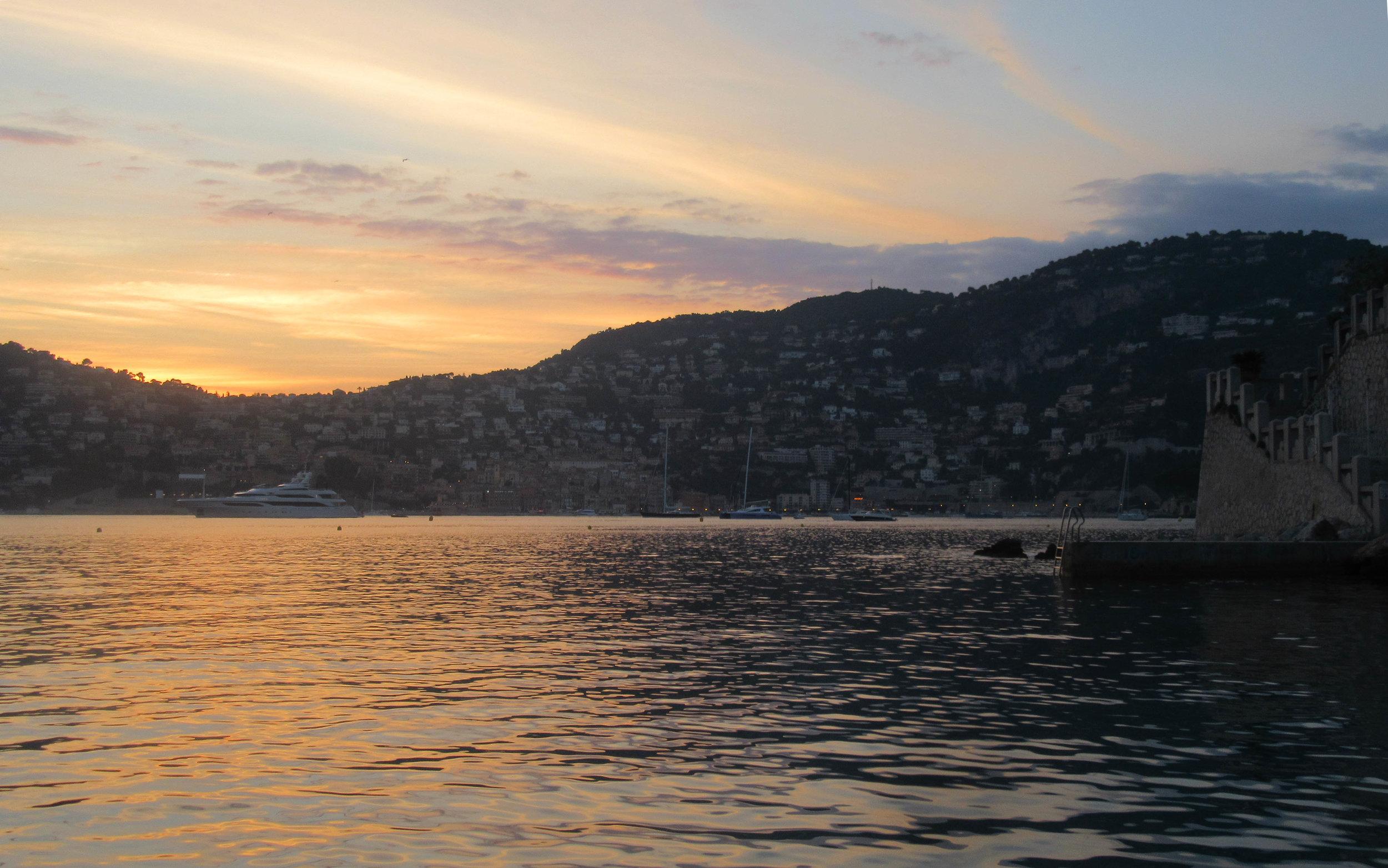 St Jean Cap Ferrat Sunset