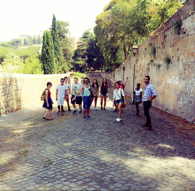 Learning Rome's secrets on the 'Not So Touristy' walking tour by Veni Vidi Visit- I found the tour on Couchsurfing.com