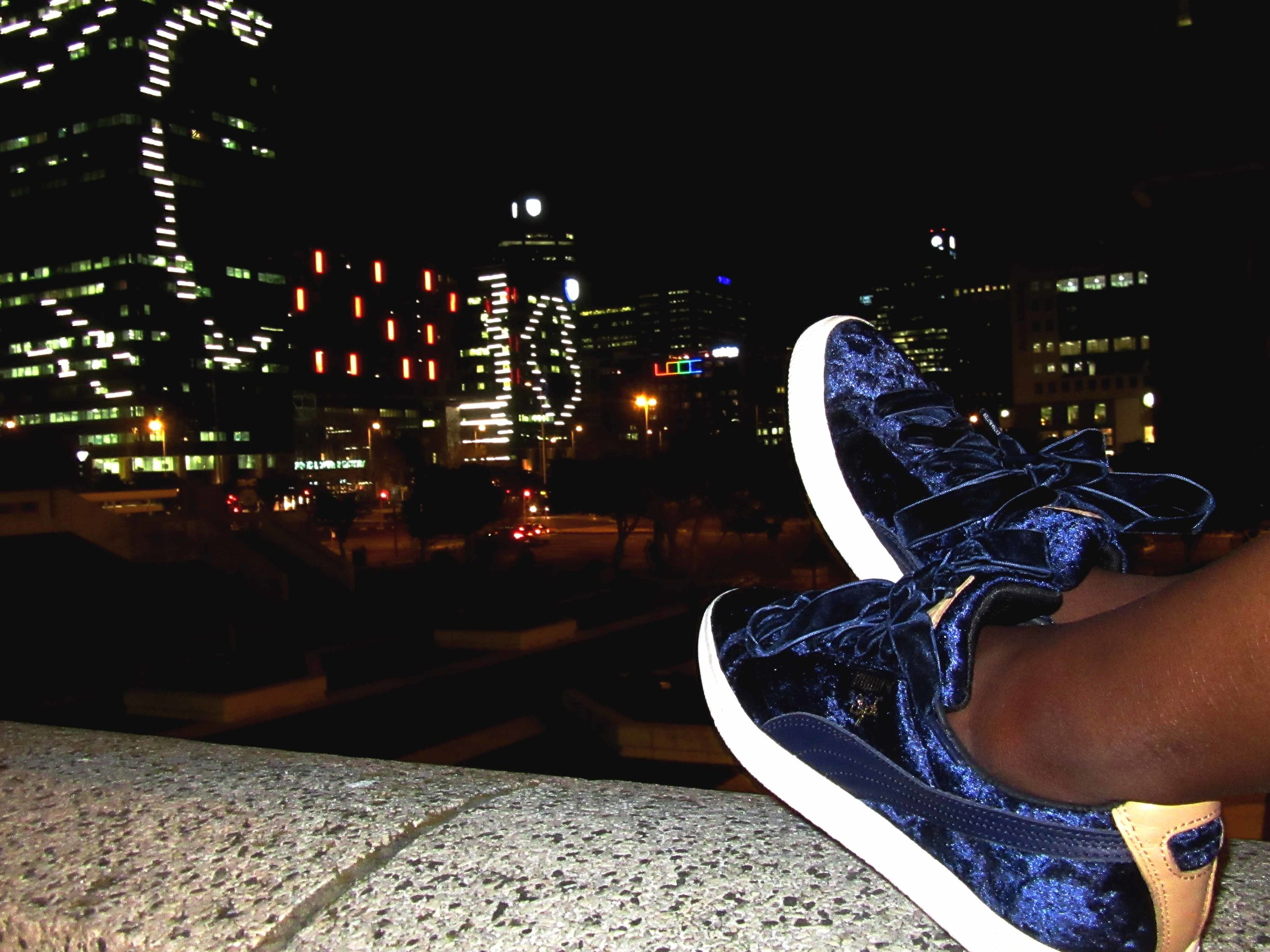 puma extra butter blue velvet model
