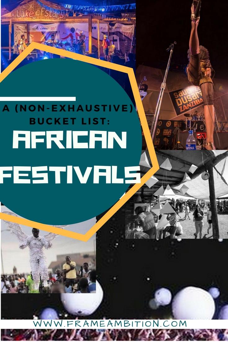 Top African Festivals: A Bucket List