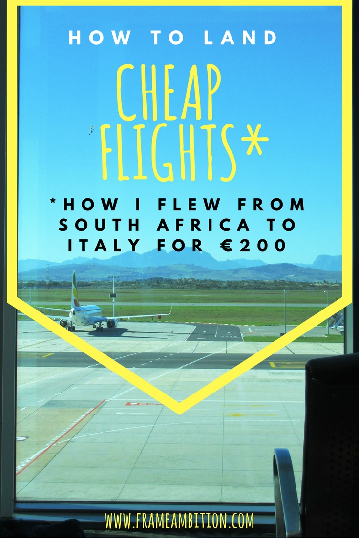 Advice for scoring cheap flights